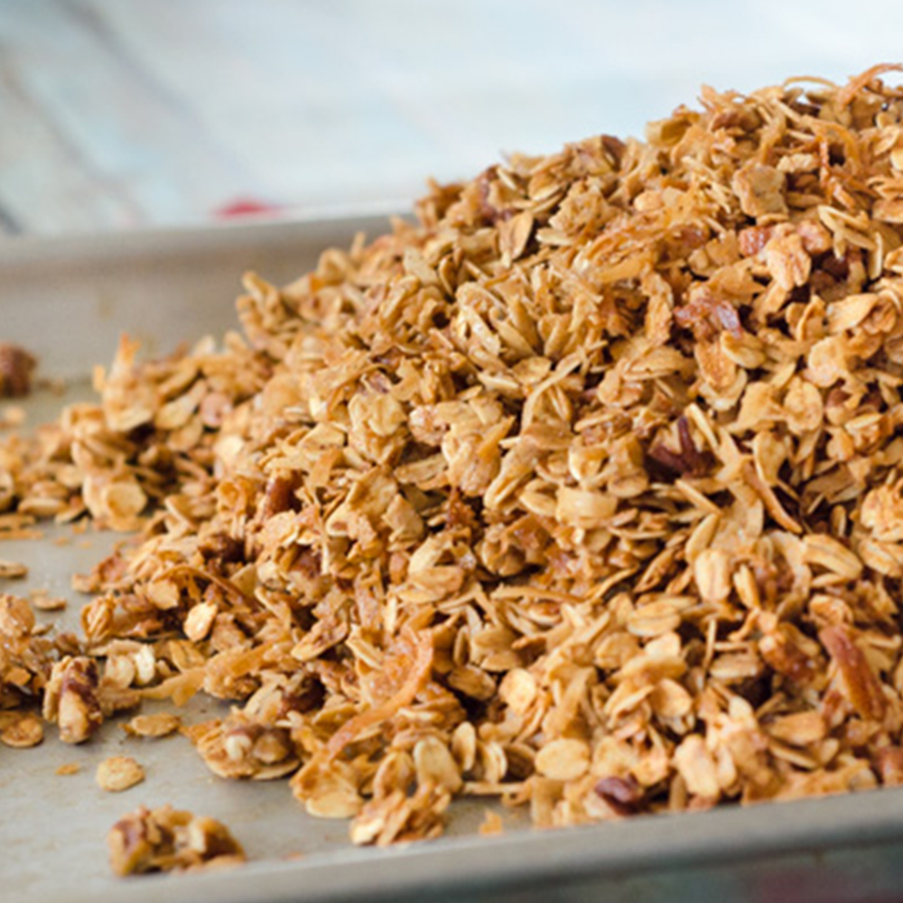 Homemade Coconut Pecan Granola | Twisted Tastes